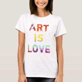 芸術は愛です Tシャツ