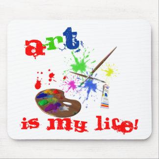芸術は私の生命です! -芸術家のパレットかペンキ マウスパッド