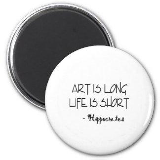 芸術は長い生命ですヒポクラテスの短い引用文です マグネット