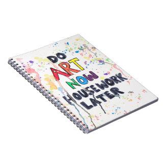 芸術を、家事後で今して下さい ノートブック