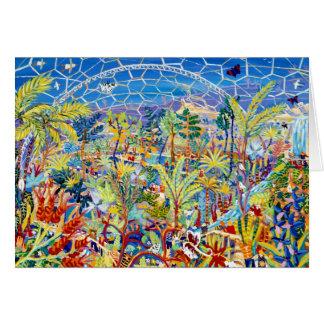 芸術カード: エデンの園。 エデンのプロジェクト、イギリス カード