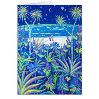芸術カード: ビーチのコテージの庭愛 カード