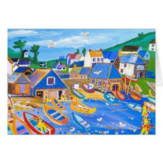 芸術カード: Cadgwith、コーンウォール、ロブスターを捕る漁師 カード