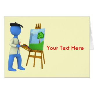 芸術家およびイーゼル カード