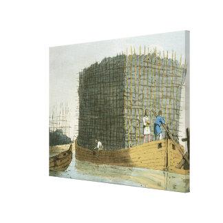 芸術家がエッチングした木炭吠え声は180を出版しました キャンバスプリント