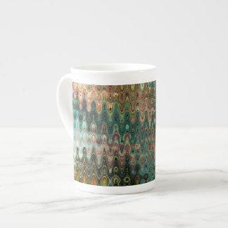 芸術家がC.L.ブラウン設計しているエデンの骨灰磁器のマグ ボーンチャイナカップ