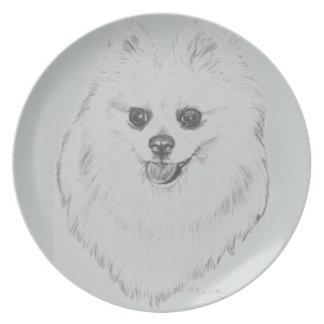 芸術家によるキャロルZeockポメラニア犬のプレート プレート