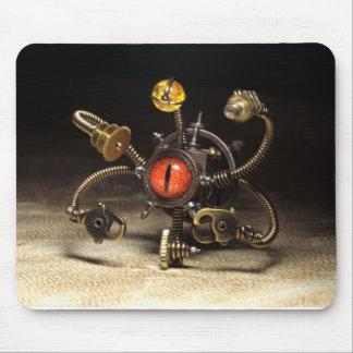 芸術家によるダニエルProulx Steampunkの見る人のロボット マウスパッド