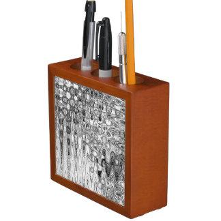 芸術家によるC.L.ブラウンインク及びエコーIIの机のオルガナイザー ペンスタンド