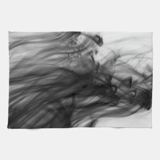芸術家によるC.L.ブラウン黒い火Iの台所タオル キッチンタオル