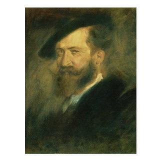 芸術家のウィルヘルムBusch、c.1878ポートレート ポストカード