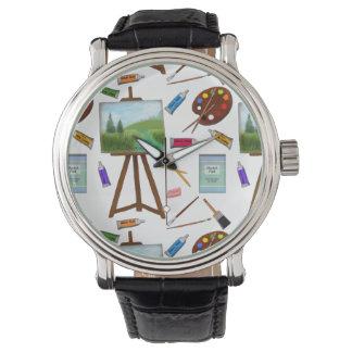 芸術家のスタジオの芸術の供給の腕時計 腕時計