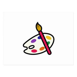 芸術家のパレット ポストカード