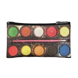 芸術家の多彩なペンキの絵の具箱 コスメティックバッグ