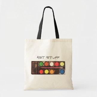 芸術家の多彩なペンキの絵の具箱 トートバッグ