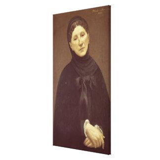 芸術家の妻のポートレート、de Chavannes夫人 キャンバスプリント