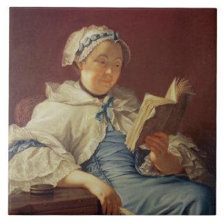 芸術家の妻1758年(キャンバスの油) タイル