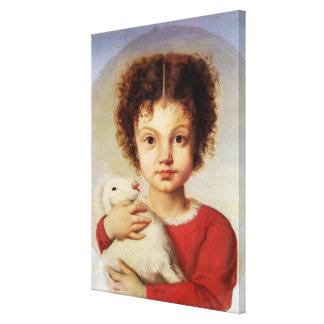 芸術家の娘のポートレート、リーナ キャンバスプリント