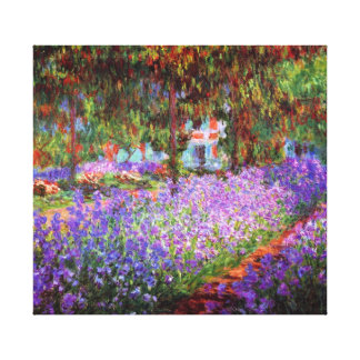 芸術家の庭のMonetのファインアート キャンバスプリント