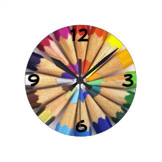 芸術家の柱時計 ラウンド壁時計