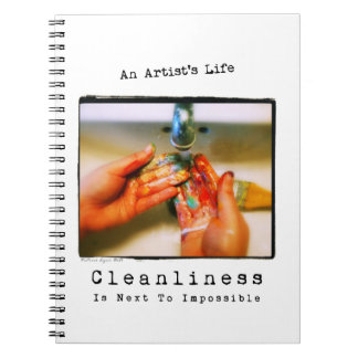 芸術家の生命: 清潔の写真撮影 ノートブック