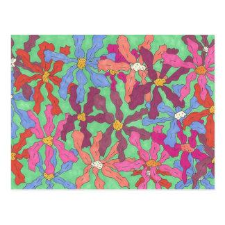 芸術家の郵便はがきのレトロの花 ポストカード