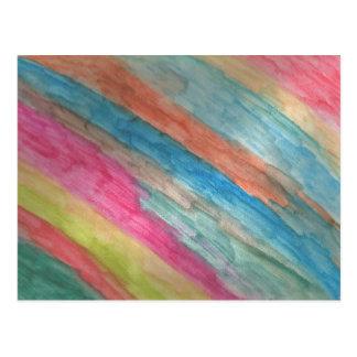 芸術家の郵便はがきの水彩画は縞で飾ります ポストカード