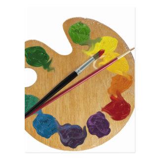 芸術家の` sのパレットのカラーホイール ポストカード
