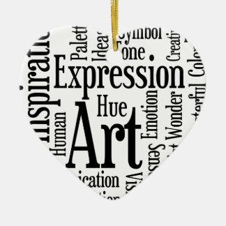 芸術家または創造的な人のための芸術的な表現 セラミックオーナメント