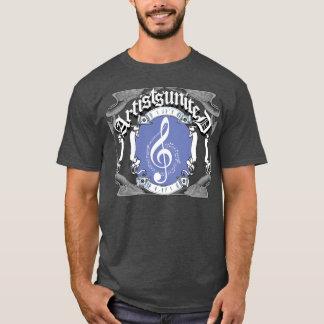 芸術家統一されたな音楽ノートの版 Tシャツ