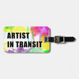 芸術家送信中に-完全で創造的な旅行ラベル ラゲッジタグ