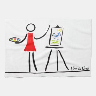 芸術家 キッチンタオル