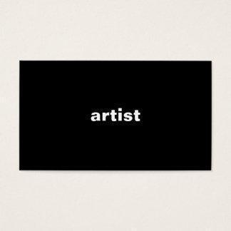 芸術家 名刺