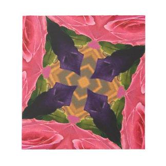 芸術的で幾何学的なばら色およびモモ色のデザイン ノートパッド