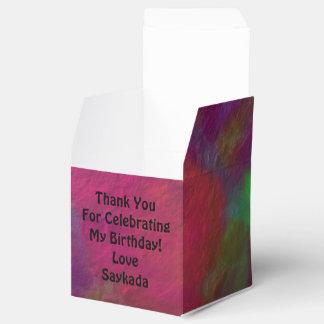 芸術的で美しいテンプレートの文字の誕生日箱 フェイバーボックス