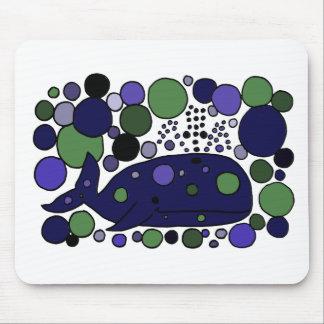芸術的で青いマッコウクジラの抽象美術 マウスパッド