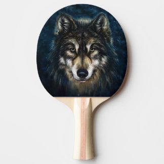 芸術的なオオカミの顔の卓球ラケット 卓球ラケット