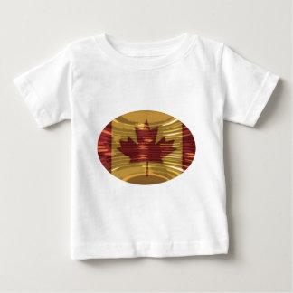 芸術的なカナダの地図およびMapleLeaf ベビーTシャツ