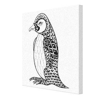 芸術的なキングペンギンZendoodle 6 キャンバスプリント