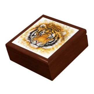 芸術的なトラの顔の装身具箱 ギフトボックス