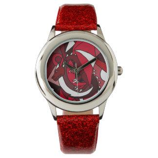芸術的なドラゴンの抽象美術の腕時計 腕時計