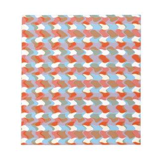芸術的なパターン:  赤く青い黄色: 挨拶を加えて下さい メモ帳