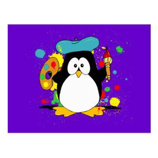 芸術的なペンギン ポストカード