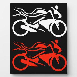 芸術的なモーターバイクのグラフィック フォトプラーク