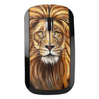 芸術的なライオンの顔の無線電信のマウス ワイヤレスマウス