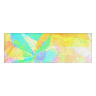 芸術的な多角形の絵画の抽象芸術の背景の芸術 名札