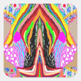 芸術的な想像のグラフィックの官能性 スクエアシール
