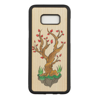 芸術的な木のイラストレーション CARVED SAMSUNG GALAXY S8+ ケース