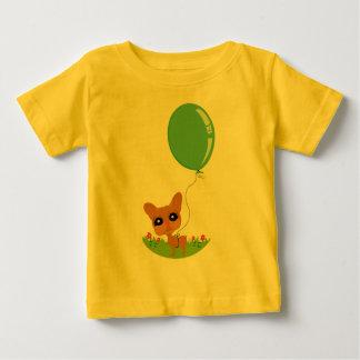芸術的な犬によって行くおもしろいのイラストレーション ベビーTシャツ