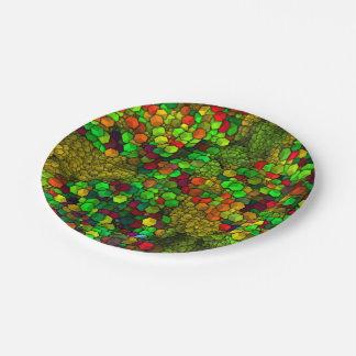 芸術的な立方体緑の(i) ペーパープレート